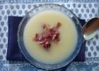Crema de melón con jamón