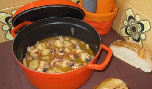Estofado de sepia con patatas