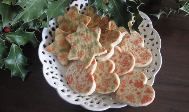 Galletas de mantequilla estampadas de navidad