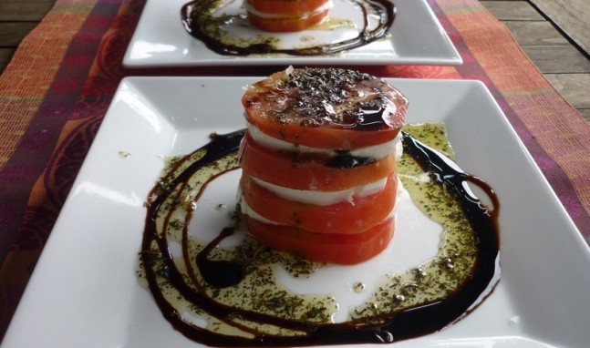 Tomates con mozzarella de bufala